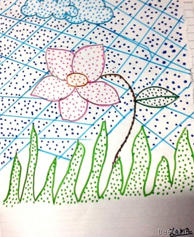 colorful-dot-art idea for kids activity