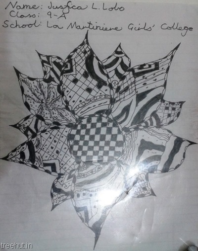 abstract art zentangle La Martiniere Girls College Lucknow