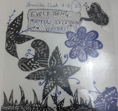 flower-zentangles-pattern by kid La Martiniere Girls College Lucknow