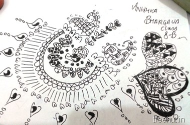 black white-zentangle pattern La Martiniere Girls College Lucknow