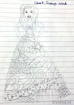zentangle pattern for barbie dress La Martiniere Girls College Lucknow