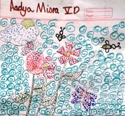 dot-art-by-kid Adya Misra La Martiniere Girls College Lucknow