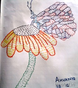 dot-art-by-kid Ananya La Martiniere Girls College Lucknow