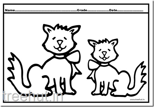 Cat and Kitten Coloring Pages (3)