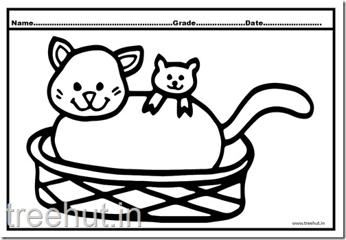 Cat and Kitten Coloring Pages (6)