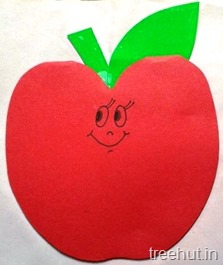 apple shape notepad craft idea