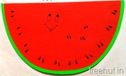 fruit notepad craft ideas watermelon slice