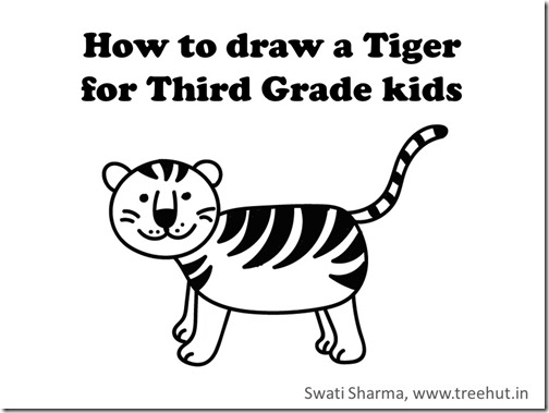 Learn to draw national indian animal tiger video