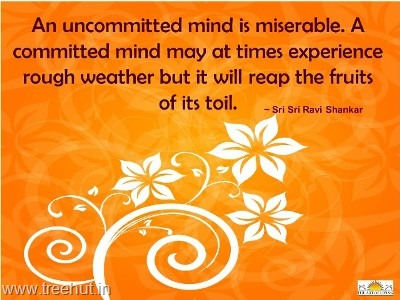 quote committed mind by-sri-sri-ravi-shankar