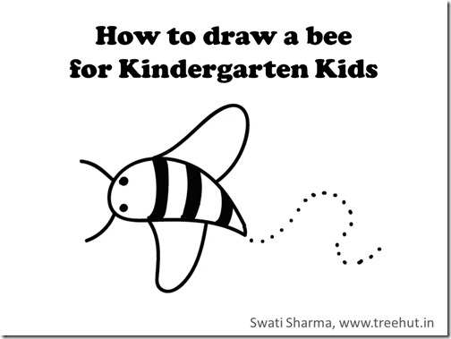 Video instruction for KG kids, how to draw a bee