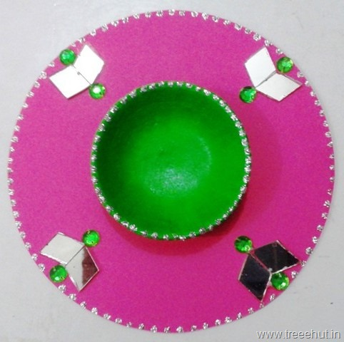 Cd Candle Stand Craft For Diwali And Christmas