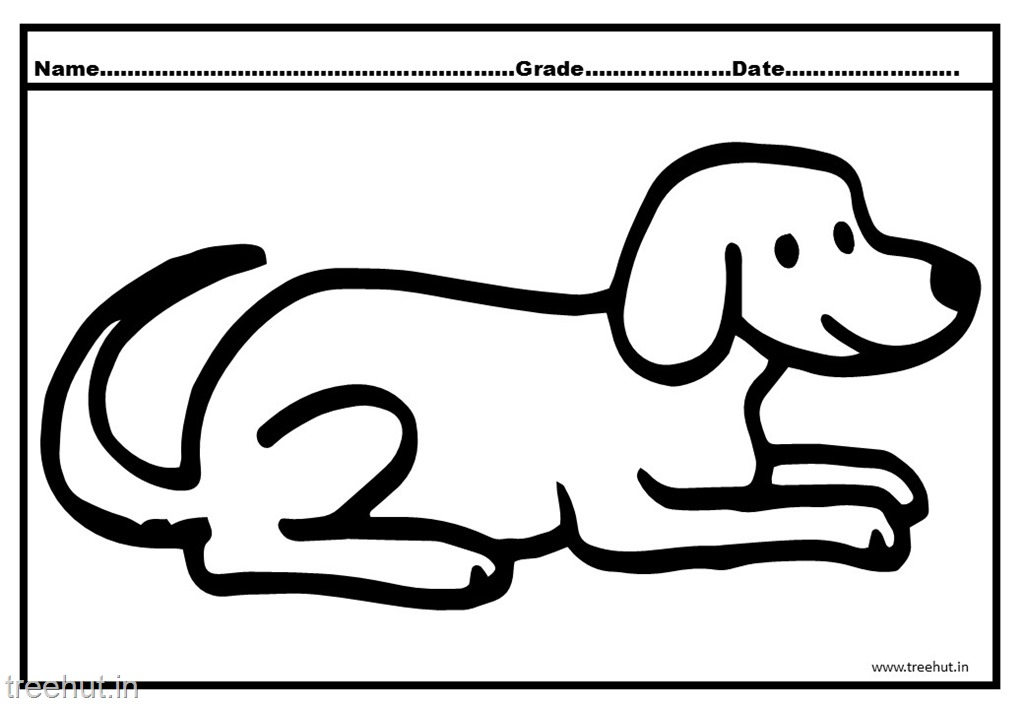 Cute Dog and Puppy Coloring Pages