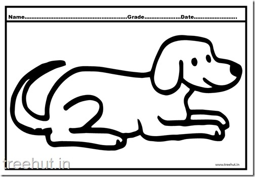 Dog and Puppy Coloring Pages (2)