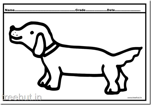 Dog and Puppy Coloring Pages (5)