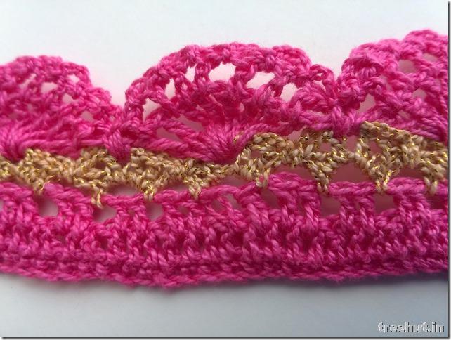 crochet lace pattern close up