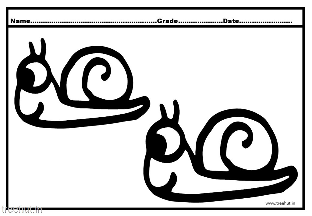 Cute Snail Coloring Pages