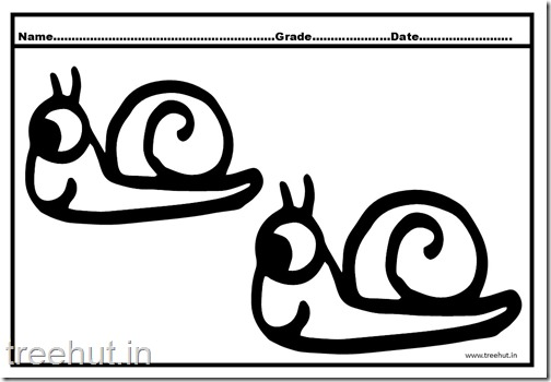 Cute Snail Coloring Pages (1)