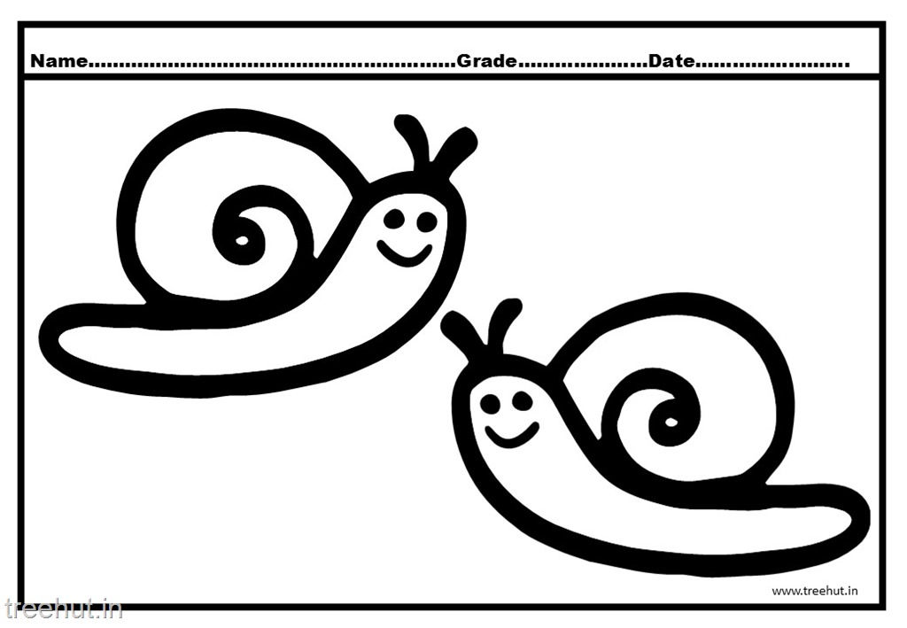 Snails - Free Coloring Pages