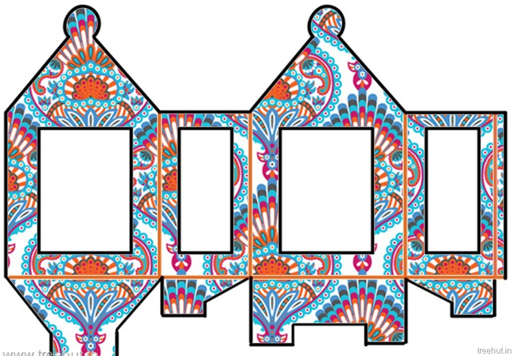 chinese lantern template printables - diy diwali paper lantern