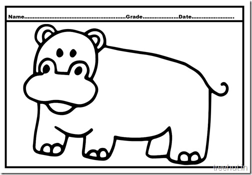 Hippopotamus Coloring Pages (2)