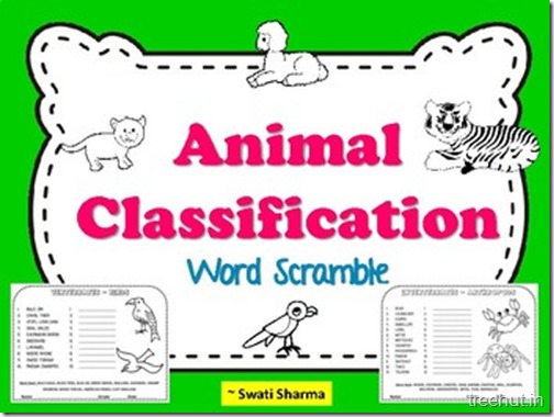 Animal Classification Word Scramble
