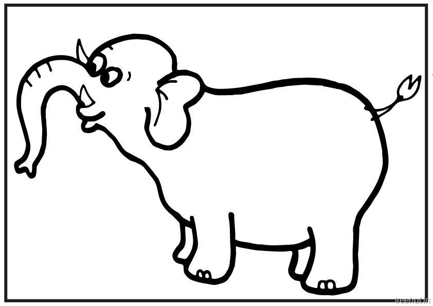 image regarding Printable Elephant identified as A4 Dimension Printable Elephant Coloring Web pages for Small children