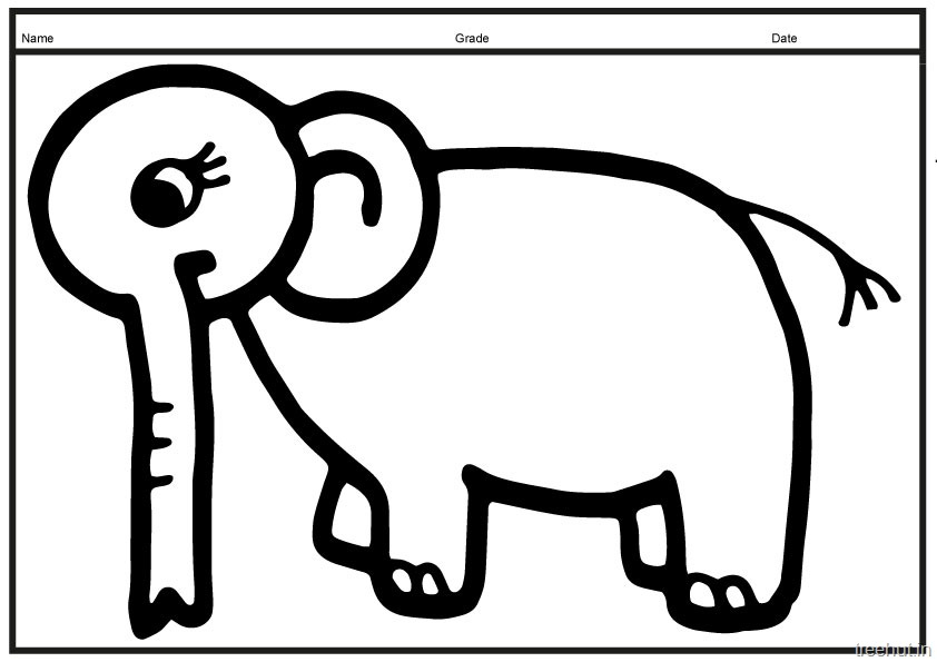 Printable Big Elephant Coloring Pages (7)