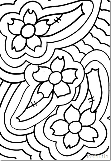 Abstarct-Flowers-Teenage-Coloring-Pages