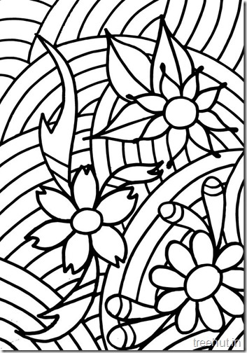 Abstract-Flowers-Coloring-Page
