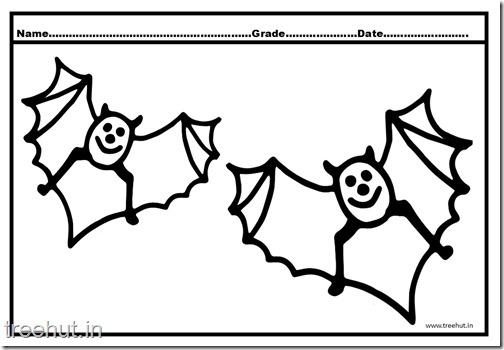 Bat Coloring Pages (1)