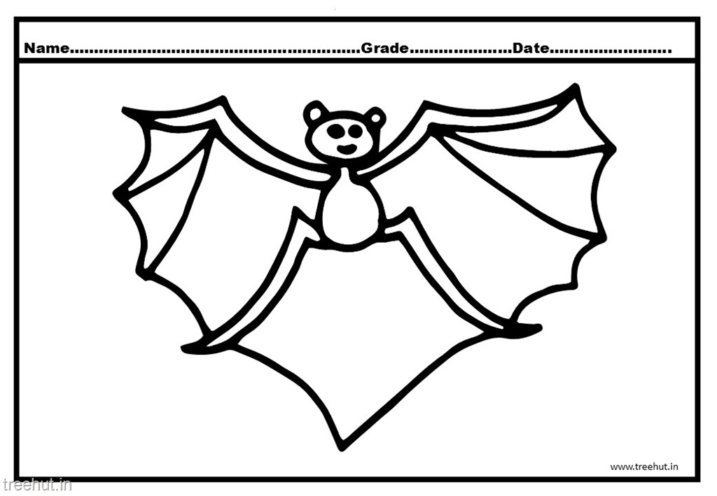 bat colouring pages - Bat Colouring Pictures