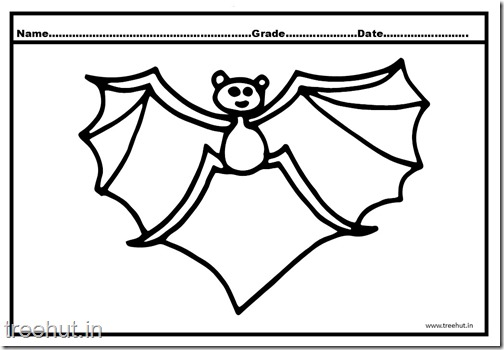 Bat Coloring Pages (2)