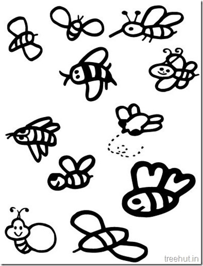 cute bee coloring pages for kids (1)