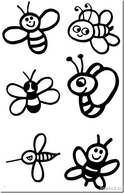 cute bee coloring pages for kids (2)