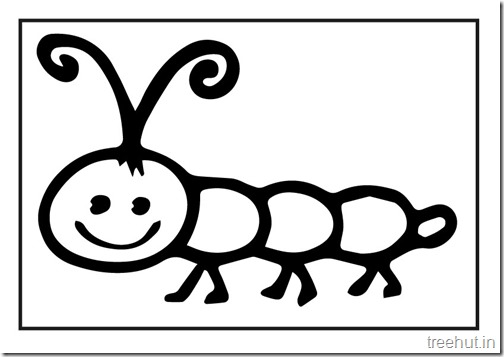 Butterfly Caterpillar Coloring Pages (2)