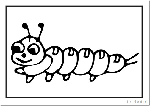 Butterfly Caterpillar Coloring Pages 3
