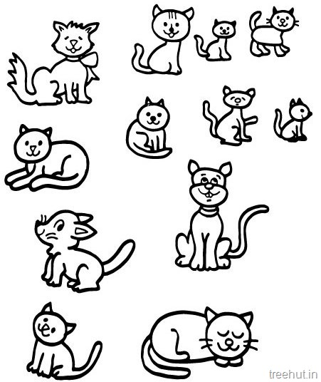 Cat Drawing And Coloring Pages For Kids