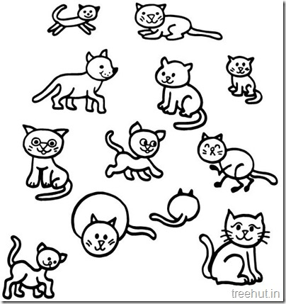 Cat Drawing and Coloring pages for kids (4)