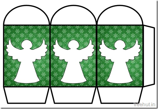 Colored Printable Christmas Angel Paper Lantern Template (1)