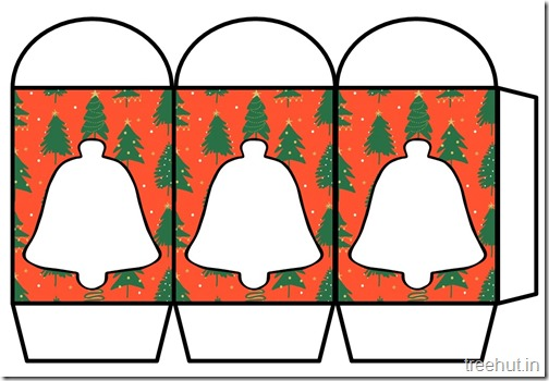 Colored Printable Christmas Bells Paper Lantern Template (1)