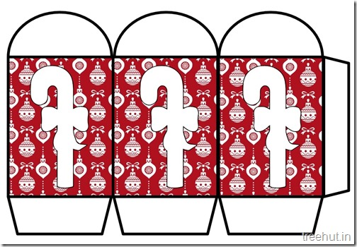 Colored Printable Christmas Candy Paper Lantern Template (1)