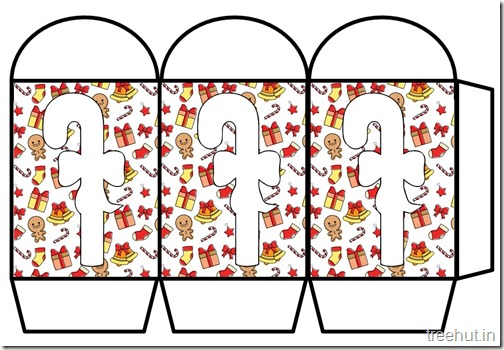 Colored Printable Christmas Candy Paper Lantern Template (2)
