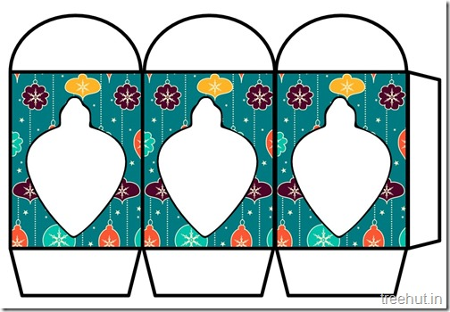 Colored Printable Christmas Ornament Paper Lantern Template (2)