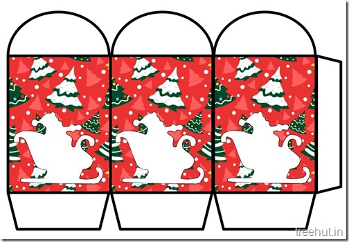 Colored Printable Christmas Santa Paper Lantern Template (2)