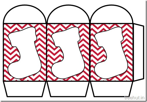 Colored Printable Christmas Stocking Paper Lantern Template (3)