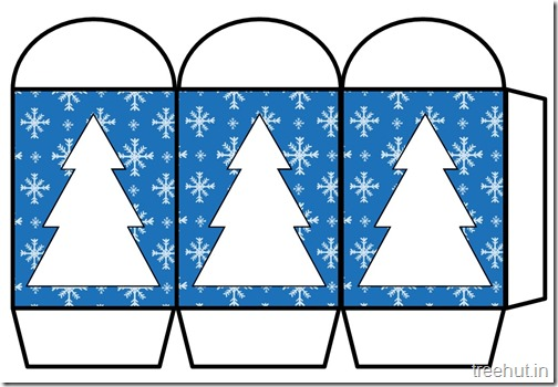 Colored Printable Christmas Tree Paper Lantern Template (1)