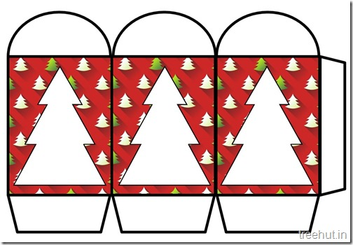 Colored Printable Christmas Tree Paper Lantern Template (2)