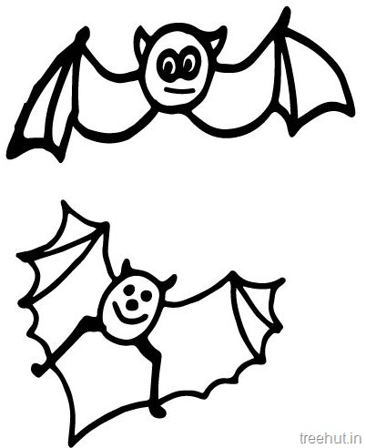 Cute Bat Coloring Pages