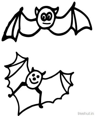 Cute Bat Coloring pages