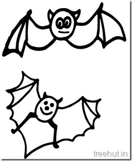 Cute Bat Animal Coloring pages